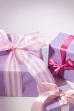 Presente cor-de-rosa Foto de Stock Royalty Free