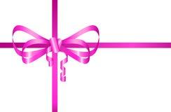 Presente cor-de-rosa da curva Foto de Stock Royalty Free