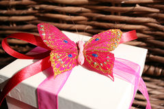Presente da borboleta imagem de stock royalty free