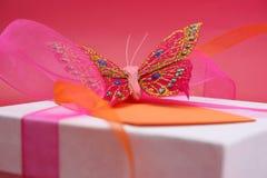 Presente da borboleta Fotos de Stock