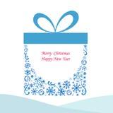 Presente da caixa de Natal Ilustração do Vetor