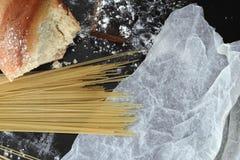 Presente da farinha no papel Fotografia de Stock