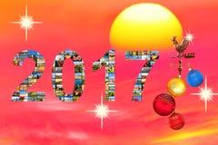 Presente da mágica do ano novo 2017 Imagens de Stock