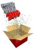 Presente da mola do ano novo Imagens de Stock