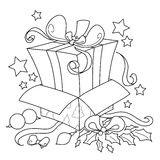 Presente da surpresa para o Natal Imagens de Stock Royalty Free