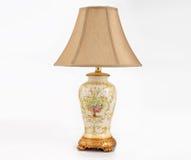 Presente de época natalícia, candeeiro de mesa conduzido clássico, lâmpada de mesa, iluminação da mesa, luz da arte, lâmpada da a Fotografia de Stock