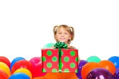 Presente de aniversário Imagens de Stock