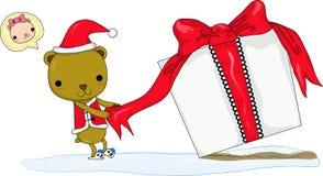Presente de Chrismas Imagens de Stock Royalty Free