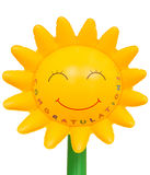 Presente de Congrats: plástico inflável do girassol Fotografia de Stock Royalty Free