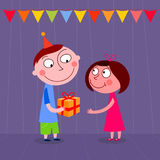 Presente de cumpleaños Fotografía de archivo libre de regalías