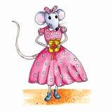 Presente de cumpleaños del ratón Fotos de archivo libres de regalías