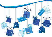 Presente de cumpleaños Imagen de archivo libre de regalías