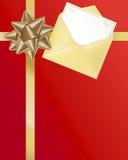 Presente de feriado com fita e cartão ilustração stock