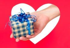 Presente de feriados Fotografia de Stock