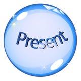 Presente de la bola cristalina Fotos de archivo
