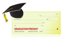 Presente de la graduación y sombrero de la graduación Imágenes de archivo libres de regalías