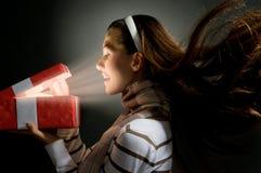 presente de la magia de la X-masa fotografía de archivo libre de regalías