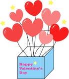 Presente de la tarjeta del día de San Valentín Foto de archivo