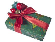 Presente de Natal Fotografia de Stock Royalty Free