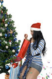 Presente de Natal Fotos de Stock Royalty Free