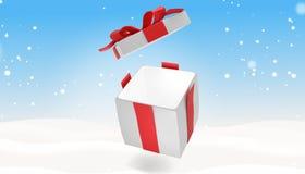 Presente de Natal 3d-illustration Ilustração Royalty Free