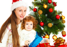 Presente de Natal da abertura Foto de Stock