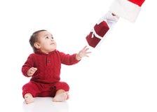 Presente de Natal de Santa Foto de Stock Royalty Free