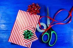 Presente de Natal DIY Fotos de Stock Royalty Free