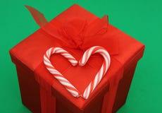 Presente de Natal do bastão de Ndy Foto de Stock