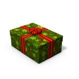Presente de Natal verde Fotos de Stock Royalty Free