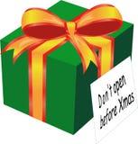 Presente de Navidad stock de ilustración