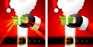 Presente de Papai Noel Imagens de Stock Royalty Free