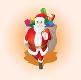 Presente de Papai Noel Fotos de Stock Royalty Free