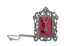 Presente de prata do quadro e da joia foto de stock royalty free