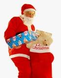 Presente de Santa Imagem de Stock Royalty Free