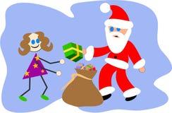 Presente de Santa ilustração do vetor