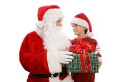 Presente de Santa Fotos de Stock Royalty Free