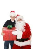Presente de Santa fotos de archivo