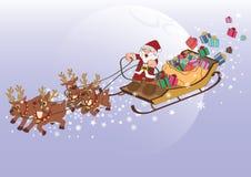 Presente de Santa Claus Xmas Fotografia de Stock