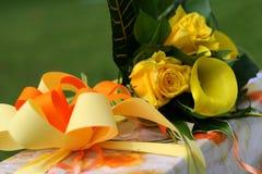 Presente decorado Imagens de Stock