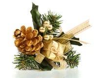Presente decorativo do Natal Imagem de Stock