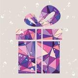 Presente del regalo hecho de triángulos ilustración del vector