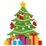Presente dell'albero di Natale illustrazione di stock