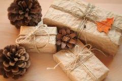 Presente dell'annata di Natale Fotografie Stock
