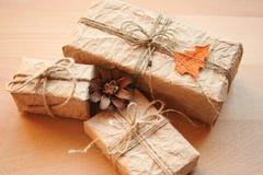 Presente dell'annata di Natale Immagine Stock