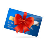 Presente della carta di credito Vettore Fotografia Stock Libera da Diritti