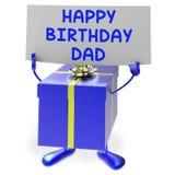 Presente di mezzi del papà di buon compleanno per il padre Immagini Stock Libere da Diritti