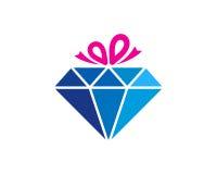 Presente Diamond Icon Logo Design Element Fotos de Stock