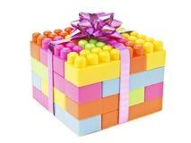 Presente do brinquedo do tijolo foto de stock royalty free