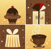 Presente do chocolate Fotos de Stock Royalty Free